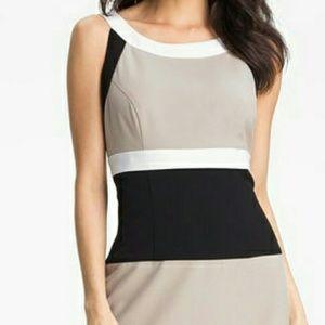 Calvin Klein block sheath dress